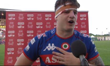 """Rugby lariano il comasco Davide Ruggeri riparte con i """"bersaglieri tricolori"""" del Rovigo"""