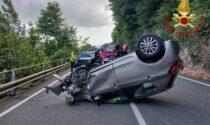 Incidente a Carate Urio: perde il controllo dell'auto e si ribalta