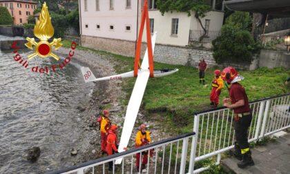 Aliante finisce in acqua a Menaggio: salvato il pilota