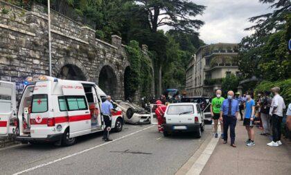 Incidente in via per Cernobbio a Como: tre feriti