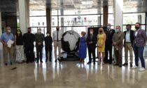 Il Globo di Volta dalla Casa del Fascio a Palazzo Reale a Milano per la mostra Weplanet