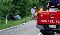 Fuori strada con l'auto: soccorsi in codice rosso a Cantù