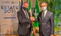 A Tremezzo inaugurata la stagione turistica italiana col ministro Garavaglia e il presidente di Regione Fontana