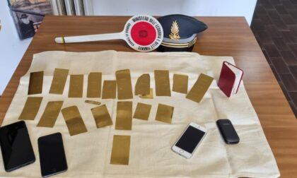 A Villa Guardia sequestrate 23 lamine d'oro da 40mila euro