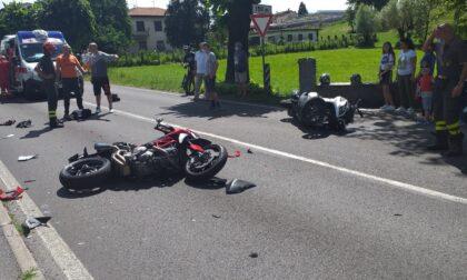 Scontro tra scooter e motoa Colverde
