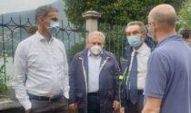 Maltempo nel Comasco: Fermi e Fontana in visita a Blevio e Cernobbio