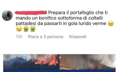 Incendi in Sardegna: Zoffili minacciato sul web