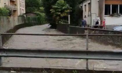 Maltempo nell'Olgiatese: torrente Lura in piena, chiuso il ponte Sant'Ambrogio. Esondazione a Uggiate