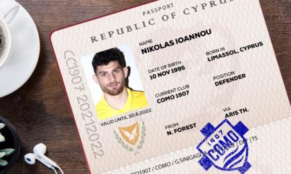 """Como calcio il cipriota Nikolas Ioannou nuovo rinforzo """"internazionale"""" per la difesa lariana"""