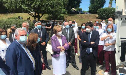 Il Ministro Roberto Speranza in Lombardia: visita all'ospedale di Merate