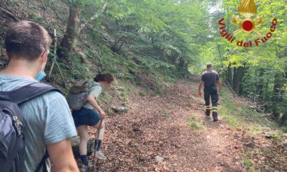 Turisti tedeschi si perdono nel bosco di Brunate, recuperati dai Vigili del fuoco