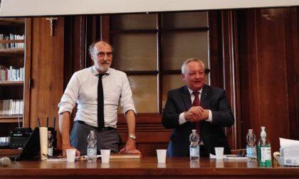 Il presidente Levrini chiude il suo mandato in Fondazione Volta con un incontro con l'assessore regionale Stefano Bruno Galli