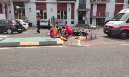 Incidente in moto sulla Briantea: due centauri feriti