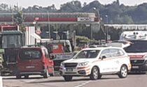 Incidente ad Alzate Brianza scontro tra auto e moto