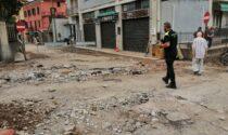 Maltempo, Protezione civile al lavoro per sgombrare le strade a Cernobbio