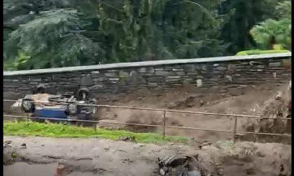 Terrore a Rovenna: acqua e fango travolgono le auto