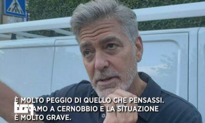 """George Clooney visita Laglio dopo la frana: """"Peggio di quel che pensassi"""""""