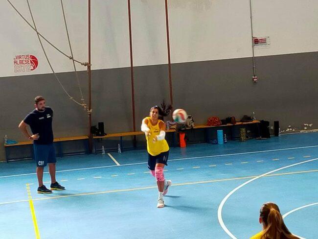 Albese Volley Maria Oikonomidou in allenamento
