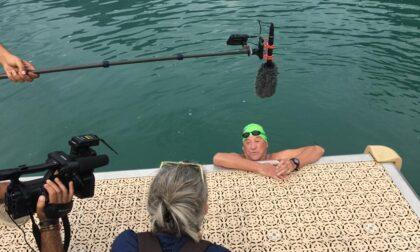 Leo Callone periplo del lago per i suoi 76 anni
