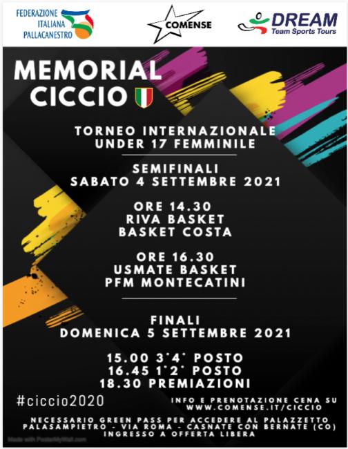 pallacanestro lariana Memorial Ciccio