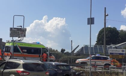 Incidente a Tavernerio: auto contro moto