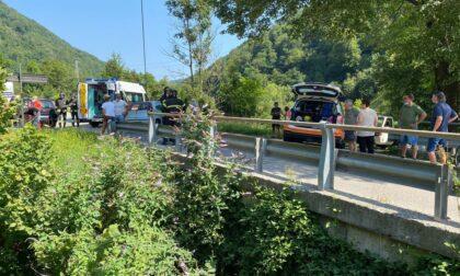 Incidente a Lasnigo arriva anche l'elisoccorso