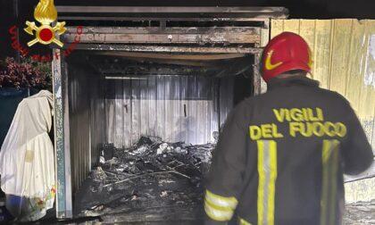 Incendio box a Novedrate
