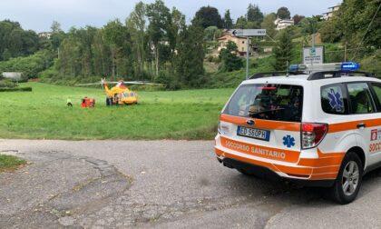 Elisoccorso intervenuto per un infortunio all'impianto sportivo in località Tibis