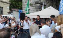 Matteo Salvini è arrivato a Como