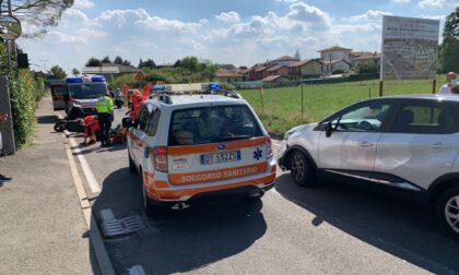 Incidente ad Appiano Gentile: scontro tra auto e scooter