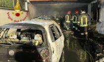 Incidente a Novedrate e tre auto in fiamme a Guanzate SIRENE DI NOTTE