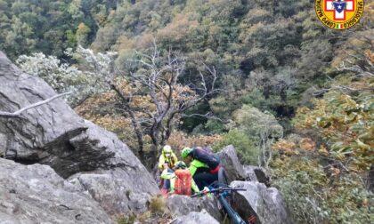 Ciclista tedesco si perde nella valle di Sorico