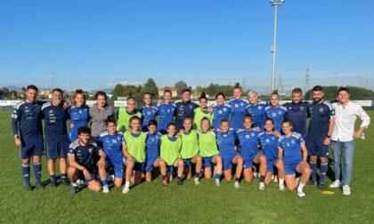 Como Women Javier Zanetti ospite della squadra prima della trasferta domenicalea San Marino