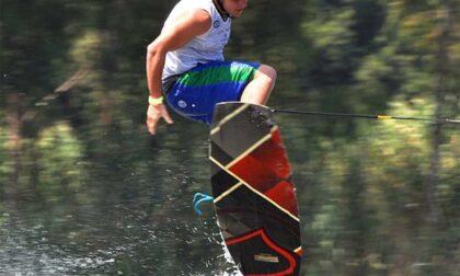 Sport d'acqua sabato si chiude a Lezzeno il Wakeboard Tour del Lario